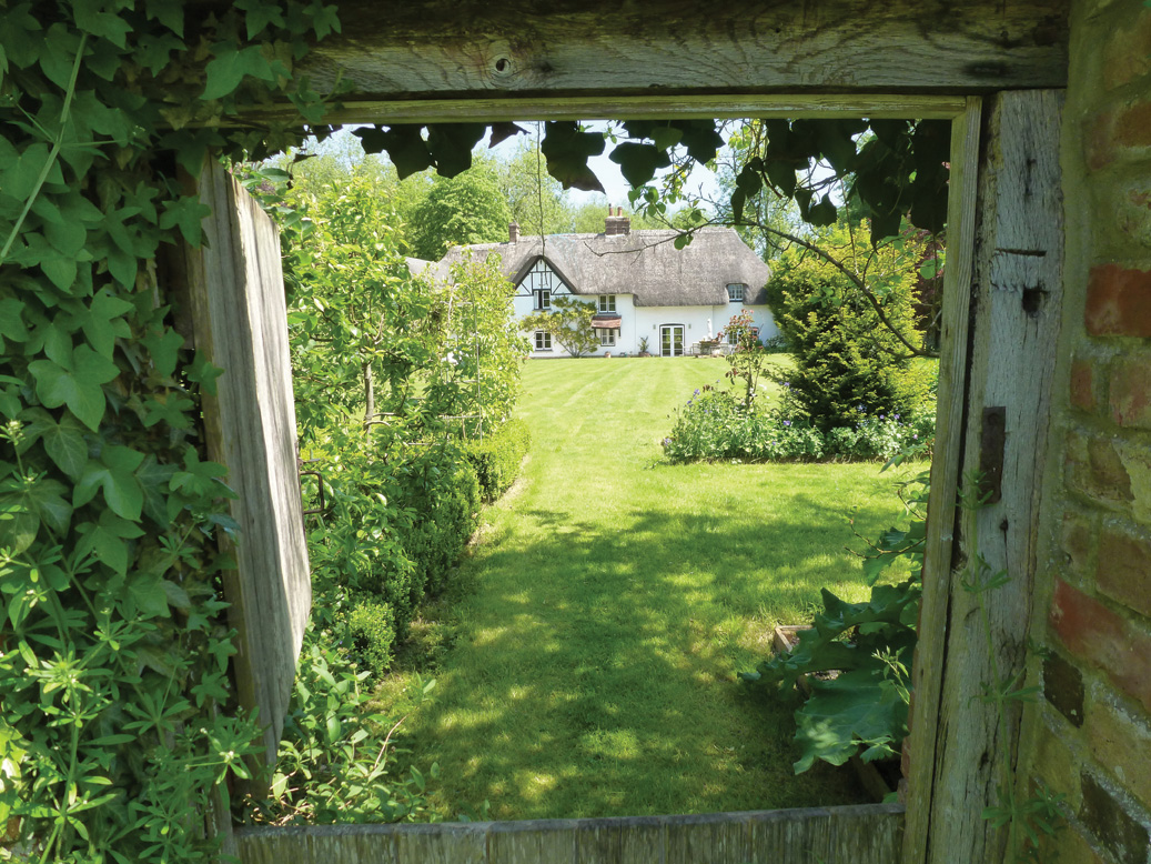 View through walled garden
